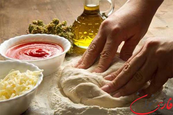 دستور تهیه خمیر پیتزا