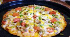 تهیه پیتزا تابه ای در منزل
